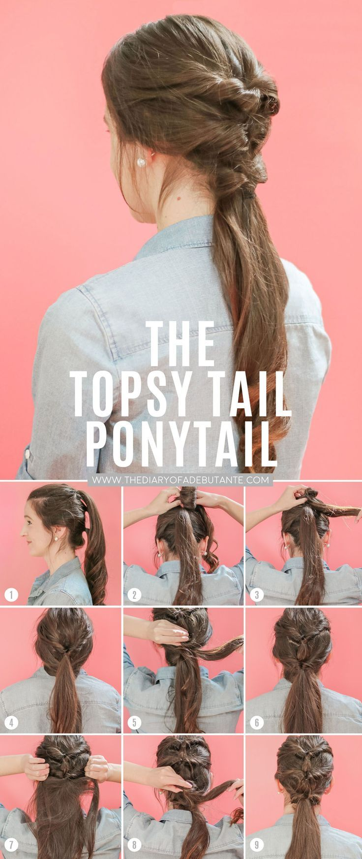 Dove Dermacare Review + Topsy Tail Ponytail Hair Tutorial for Long Hair