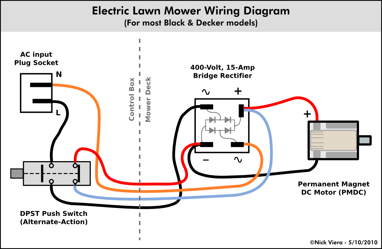 f50e2b2a99e7a189849a57f82bffb05b nick viera electric lawn mower wiring information diy disc wiring electrical switches diagrams at bakdesigns.co