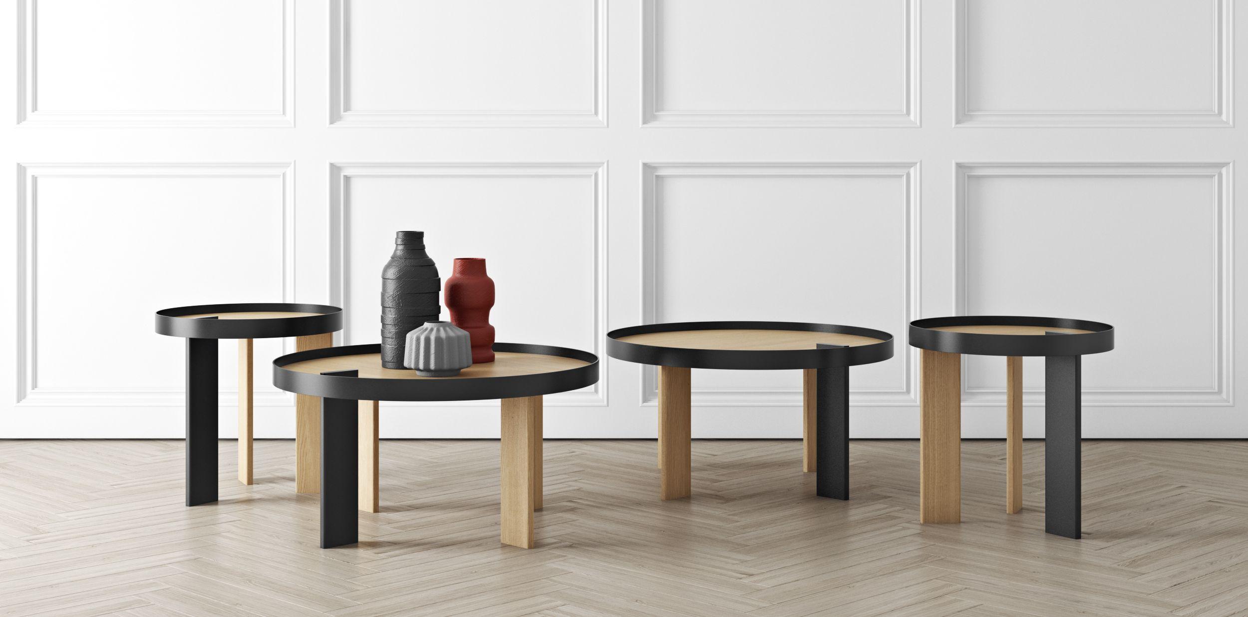 Table Basse Bruno Tema Home Partie Noire Contraste Et Bruno