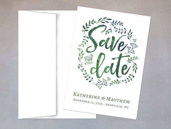 Printable Save the Date Wedding Invitation Template - Instant - Download Numbers Spreadsheet For Mac