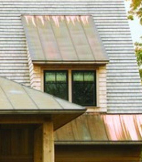Copper Metal Accent Flat Shed Dormer Shed Dormer Metal Shed New Homes