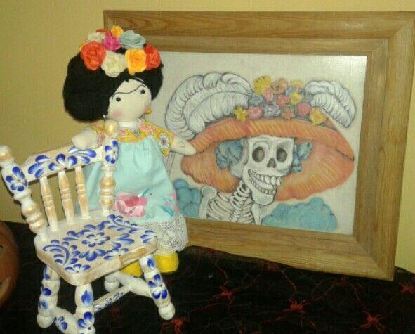 Dia de muertos. Frida y catrina. Gto Mex