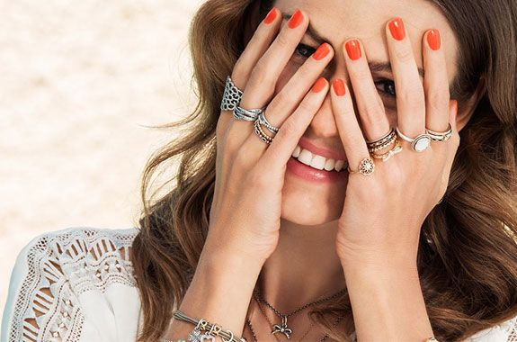 anillo pandora lazo perla