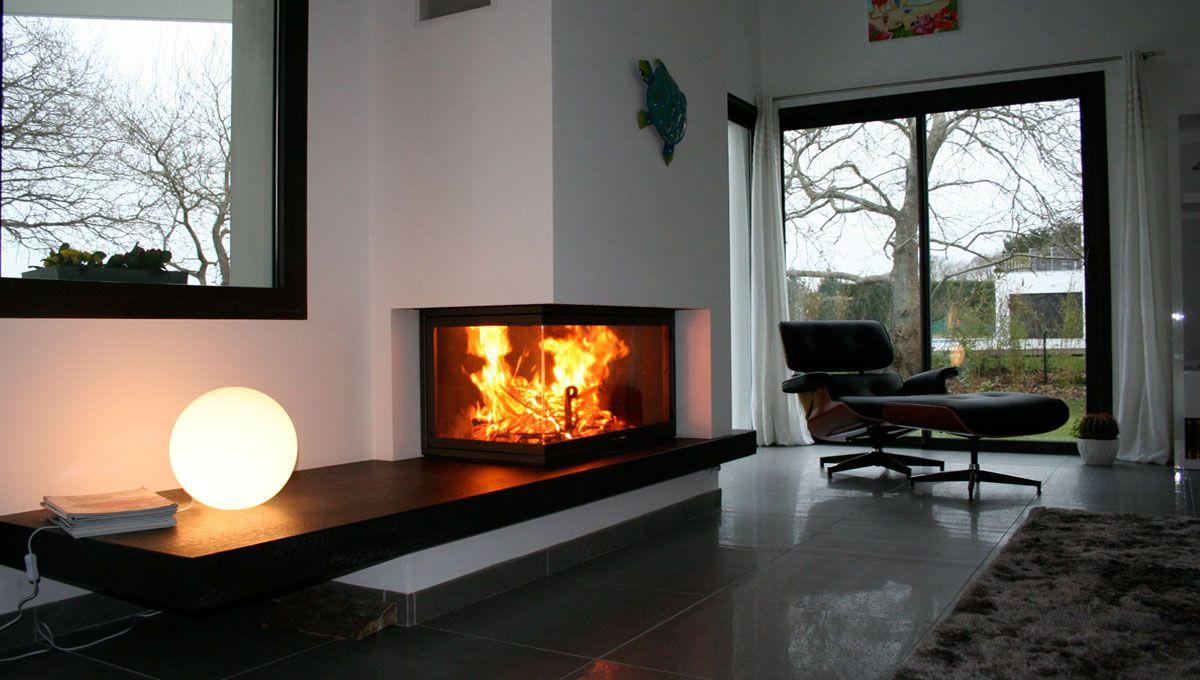 installation d une chemin e d angle mougins chemin e insert pinterest. Black Bedroom Furniture Sets. Home Design Ideas