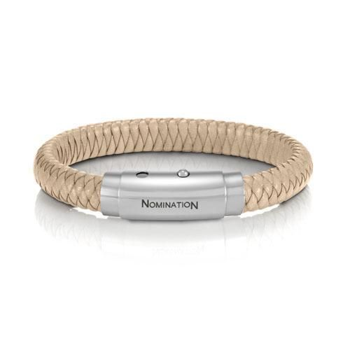 NOMINATION SAFARI CREAM LEATHER BRACELET £55