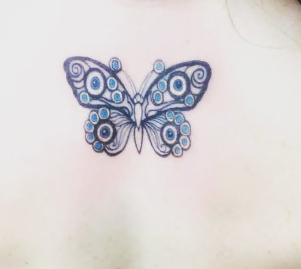 Beautiful Evil Eye Butterfly Incorporation Tattoo The All Seeing Eye Butterfly Evil Eye Tattoo Greek Evil Eye Tattoo Eye Tattoo