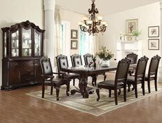 """Color: Brown Material: Wood Condition: New. Measurements: Table: 44"""" X 72"""" ~ 108"""" X 30"""" H (2' X 18"""" Leaf) - With Leaves: 44"""" X 108"""" X 30"""" H - Without Leaves: 44"""" X 72"""" X 30"""" H Manufacturer SKU: 2150 *"""