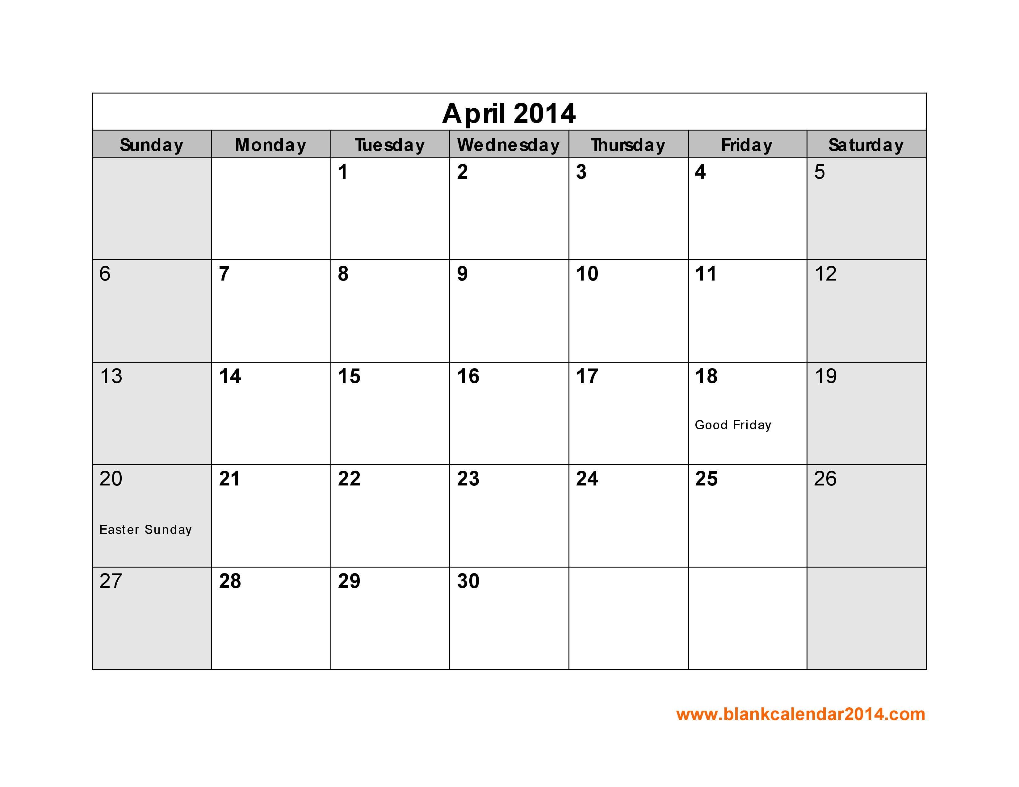 Calendar Printable With Holidays For The Month Of