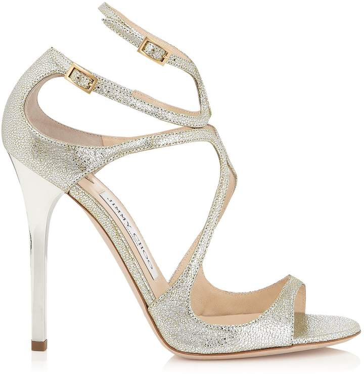 e7aeaa67efa7cd Jimmy Choo Lance 115 Metallic Sandals