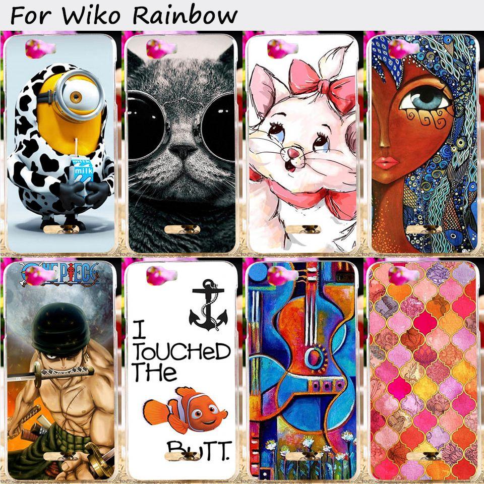 휴대 전화 가방 케이스 wiko rainbow explay 신선한 5.0 인치 케이스 안티 노크 하드 플라스틱 패션 스마트 폰 껍질 후드