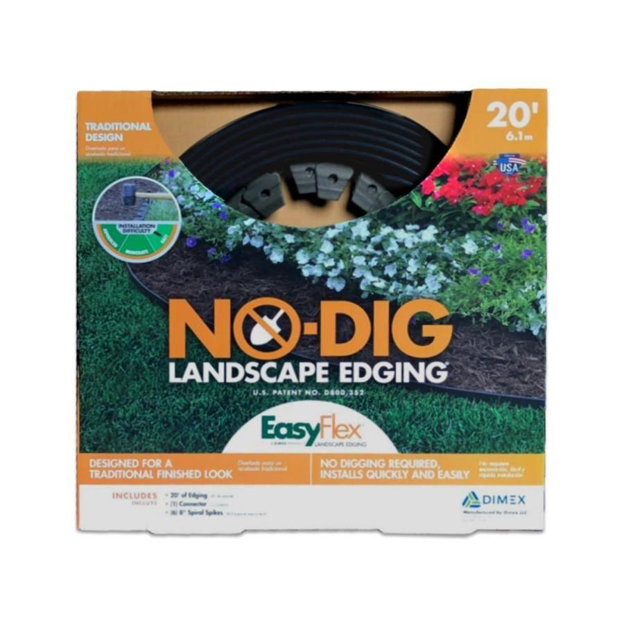 Easyflex Black Plastic Landscape Edging Roll 3000 20r1 6 In 2020 Plastic Landscape Edging Landscape Edging Landscape