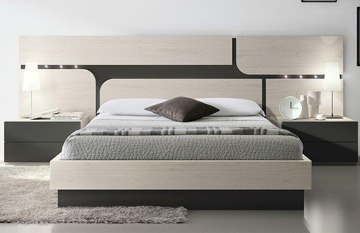 Habitación doble estilo nórdico y cabecero formas | camas ...
