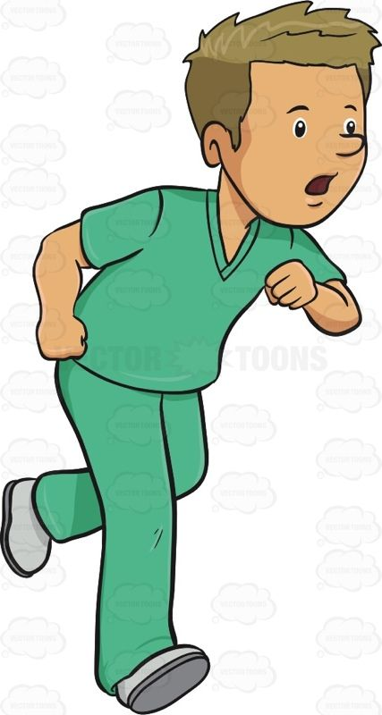 f79788e12df Man In Medical Scrubs Rushes In A Hurry #adultmale #caregiver #doc #doctor