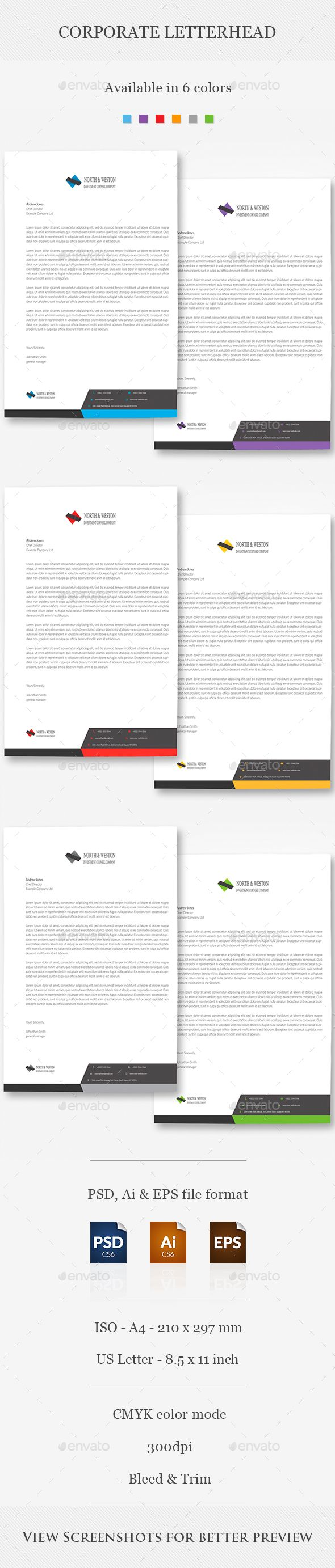 Corporate Letterhead  Letterhead Stationery Printing And