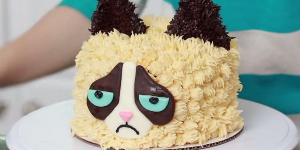 Huffpost Taste On With Images Grumpy Cat Cakes Birthday Cake