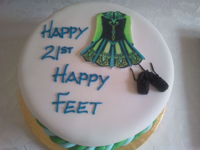 Irish dancing themed cake Irish dance Dancing and Cake
