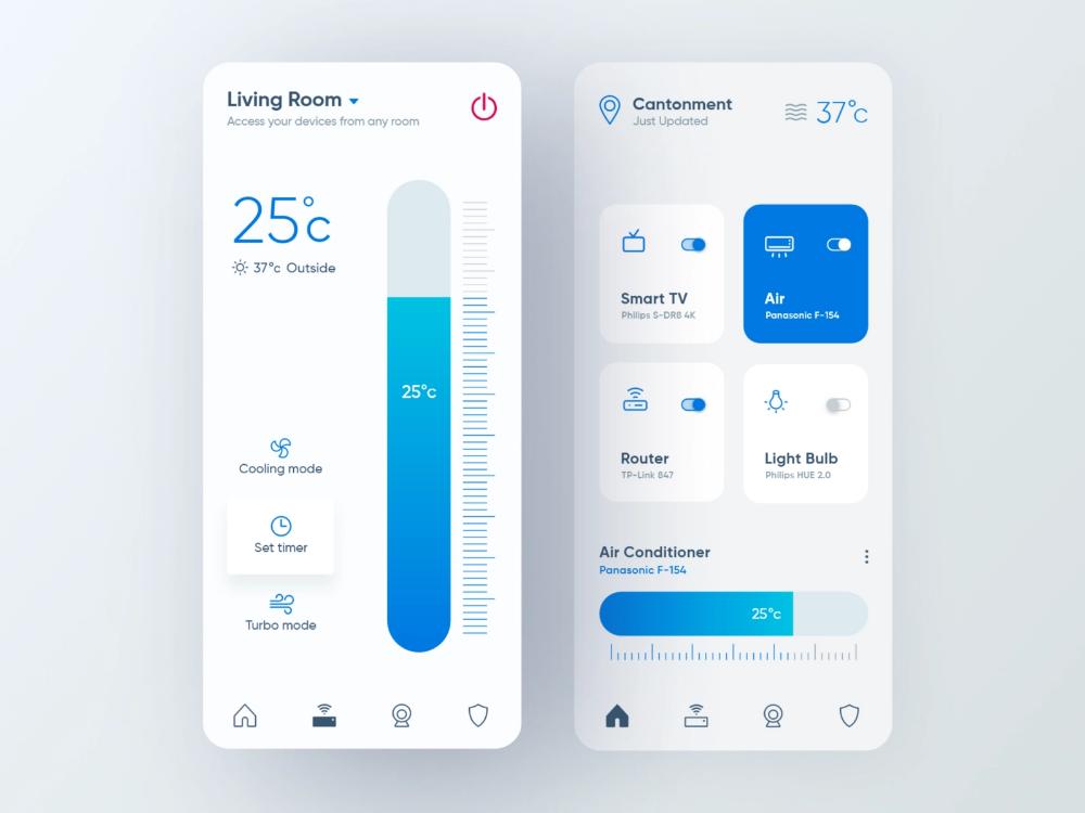 Smart Home App App Design Web App Design App Design Inspiration