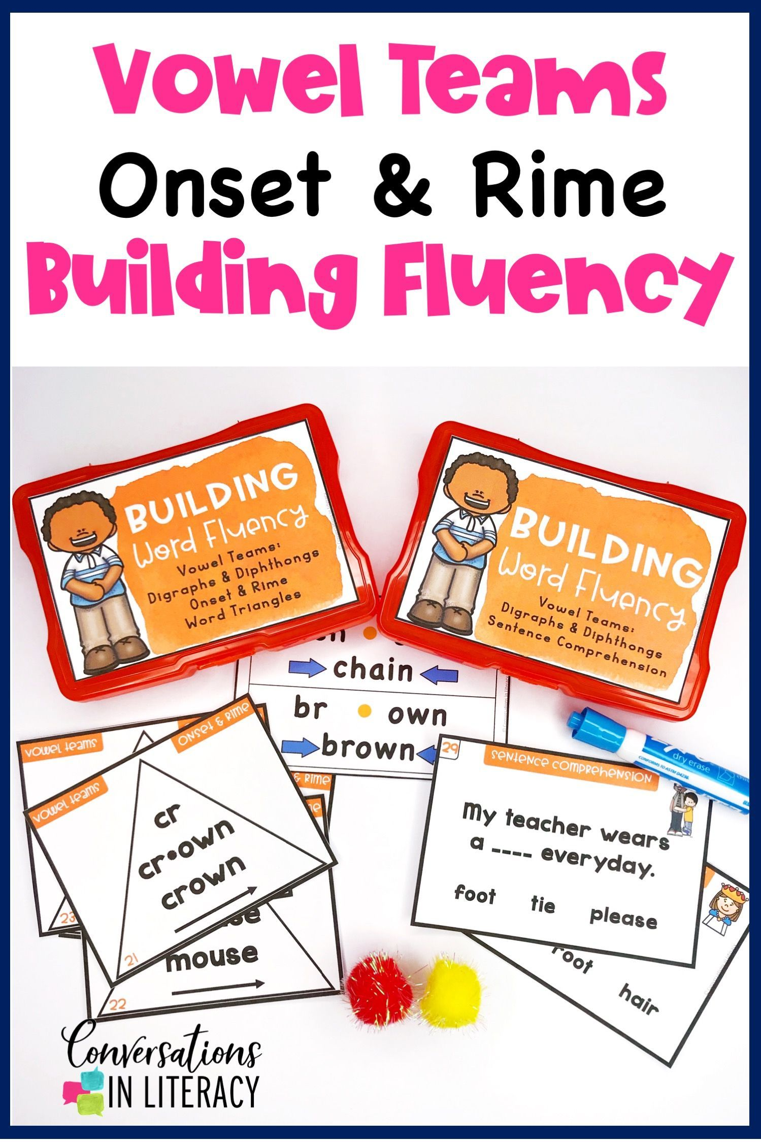 Vowel Teams Digraphs Diphthongs Onset And Rime Building