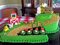 Image Result For Easy Farm Cake Decorating Ideas With Images