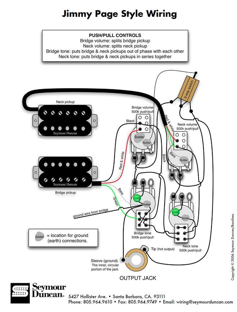 Diagrams Les Paul Jimmy Page 920d Custom With Images