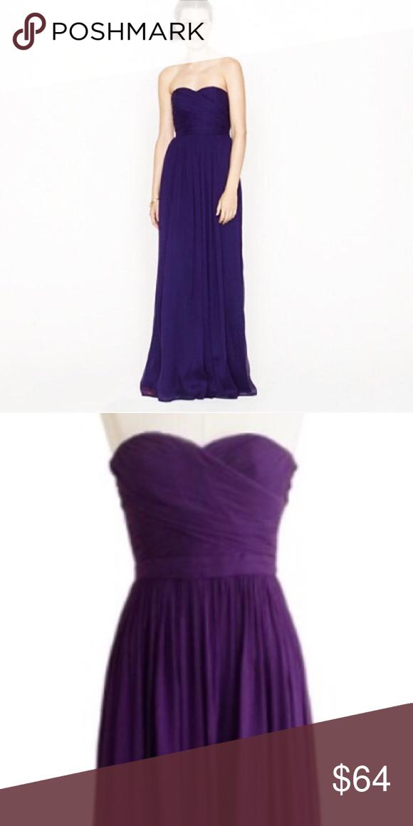 J. Crew purple chiffon dress Purple chiffon dress with sweetheart ...
