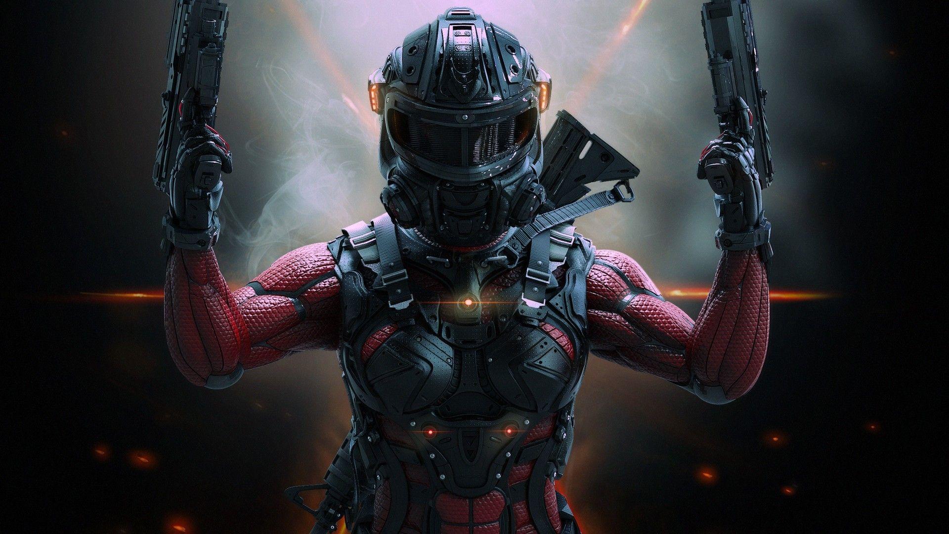 General 1920x1080 Science Fiction Soldier Women Artwork Fantasy Fighter Sci Fi Cyberpunk Character Hd wallpaper sci fi soldier helmet