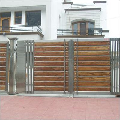 Front gate designs for homes modern gate design google for Wooden main gate design