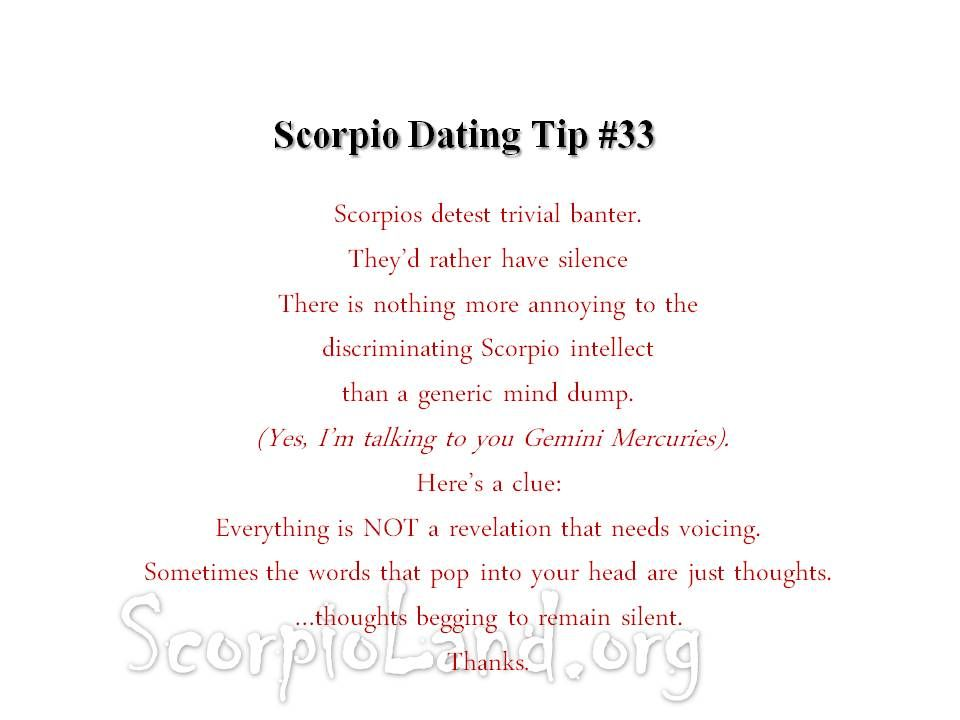 A say what to scorpio woman to Scorpio Woman