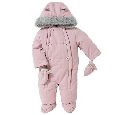 7620ac1d5 Girls Baby Wadded Snowsuit