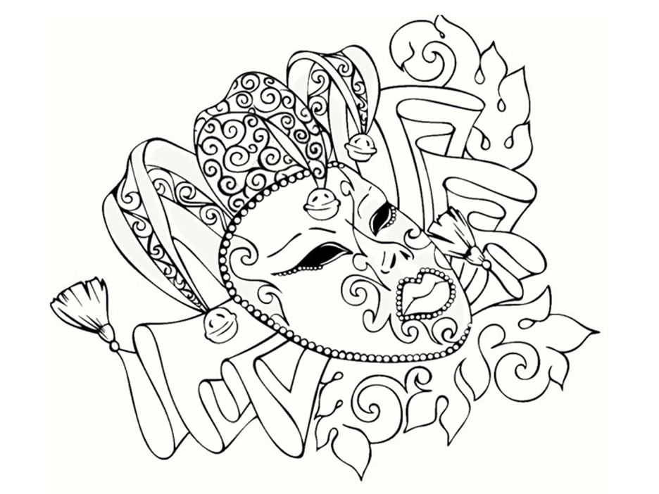 Beau masque de carnaval colorier dibujos pinterest carnaval pintar y mandalas - Mandala carnaval ...
