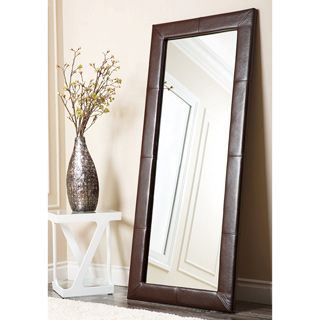 Shop For ABBYSON LIVING Delano Dark Brown Leather Floor Mirror. Get Free  Shipping At Overstock