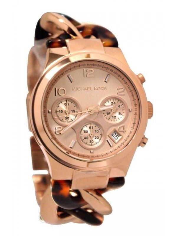 fccda5a38036 Michael Kors Ladies Metal and Acetate Runway Twist Watch MK4269 ...
