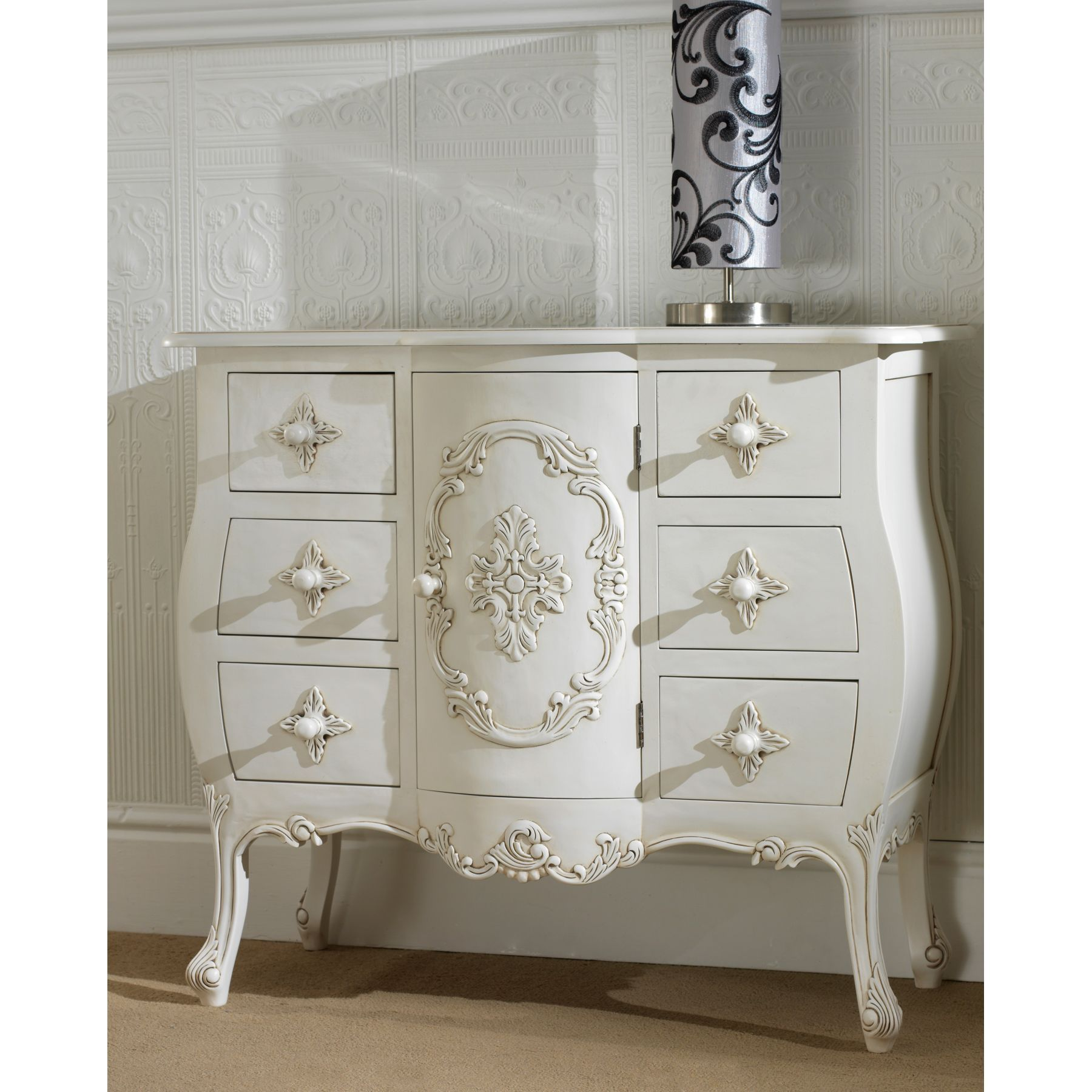 Attractive French Bedroom Furniture #4 - Antique White Dressers ...