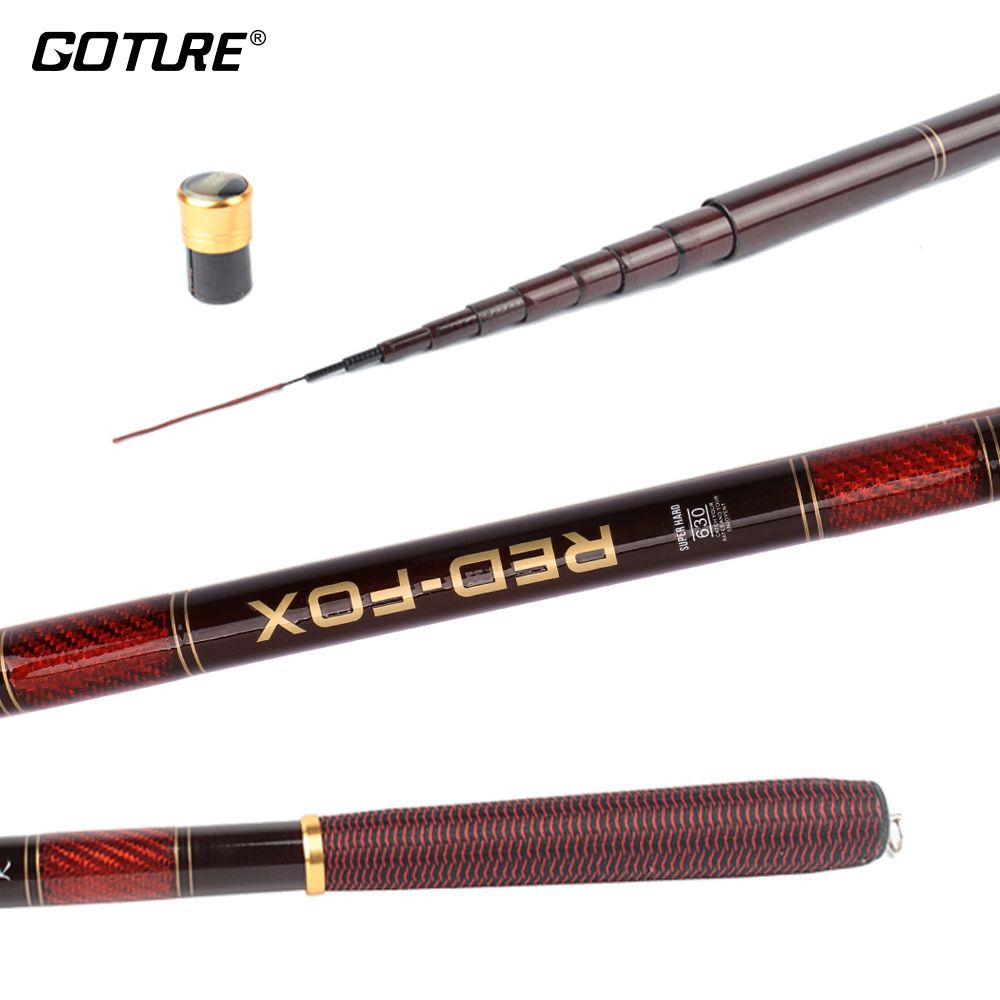 free shipping Heavy duty carbon fiber telescopic fishing rod