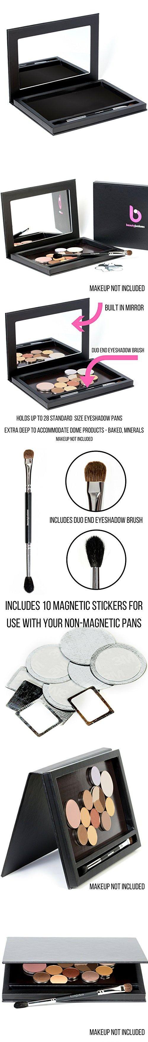 Empty Eyeshadow Makeup Palette Large Black