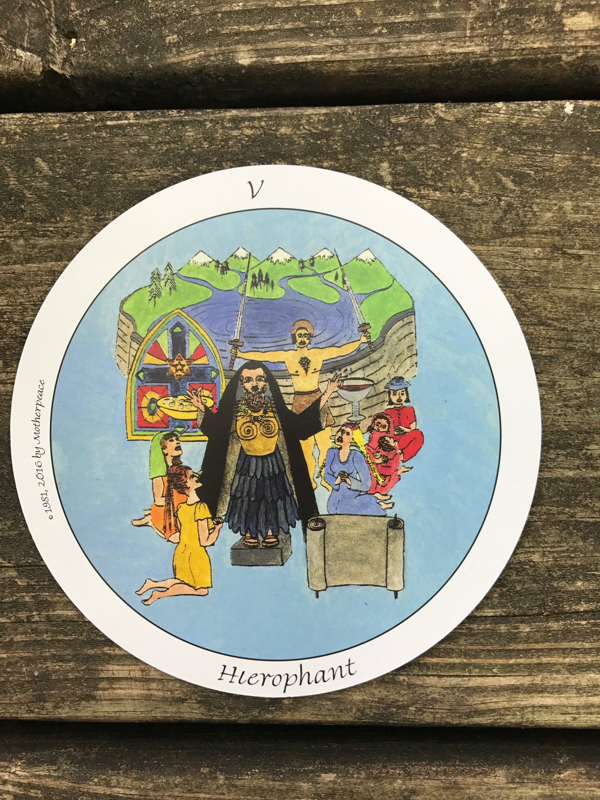 The Hierophant in The Motherpeace Tarot | the motherpeace