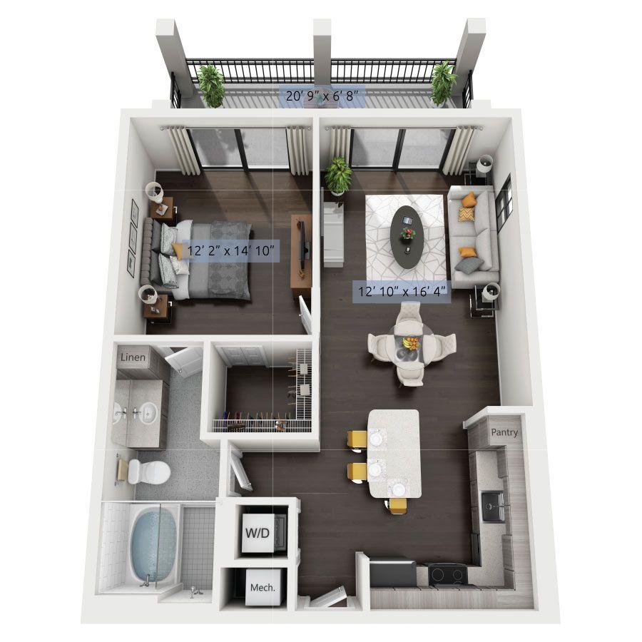 Pin By Anacarolinarim On Arq Floor Plans Apartment Apartment Floor Plan