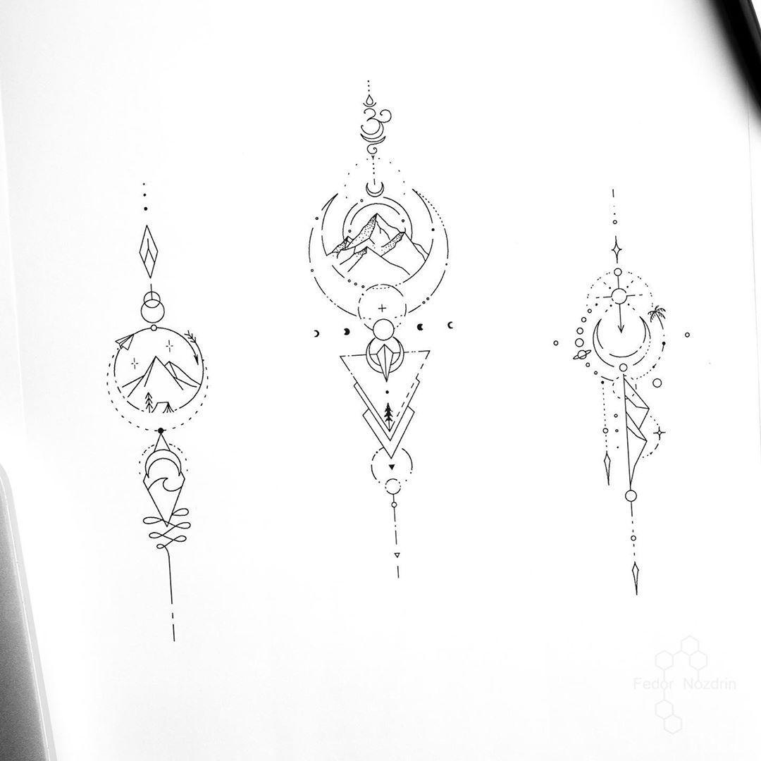 Photo of ©Instagramの上のタトゥーアーティストヒョードルNozdrin:「利用可能なデザイン•バリの予約オープン•モスクワ4-9 2月•。 。 。 。 #geometrictattoo
