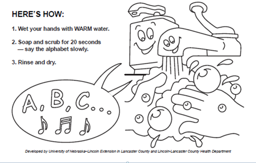 wash your hands coloring page  coloring pictures for kids