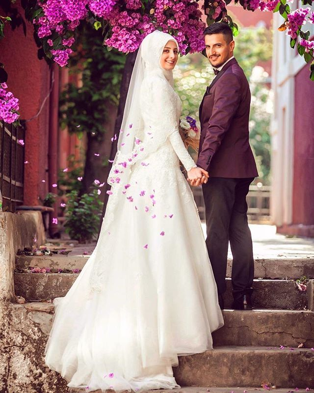 Adalarda ask :) | Muslim Bridal Hijab(Niqab)~Bridesmaids | Pinterest ...