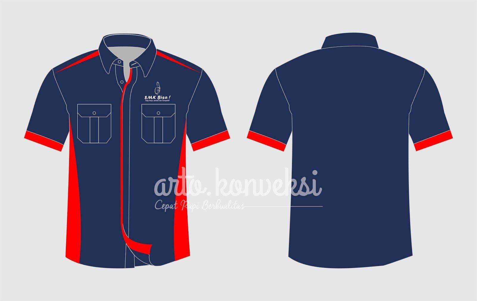 Download Download Template Vector Desain Kemeja Seragam Smk Format Corel Draw Kemeja Desain Cocok