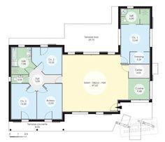 Marvelous Plan Rez De Chaussée   Maison   Maison à Lu0027architecture Bioclimatique. House  Plans