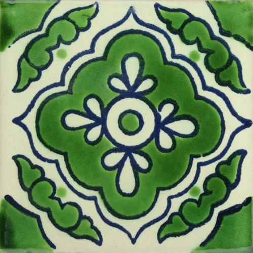 Traditional Mexican Tile – Toledo Verde/Azul