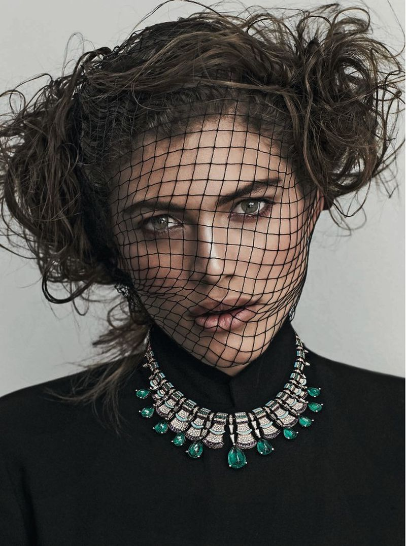 Photo of Valentina Sampaio Models Luxe Jewelry for Vanity Fair Italy