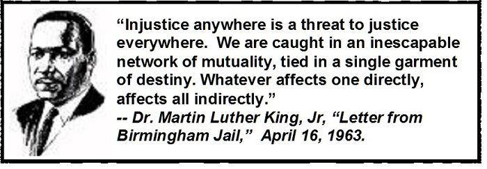 Letter From Birmingham Jail Quotes Martin Luther King Jr Quotes Working Togetherquotesgram