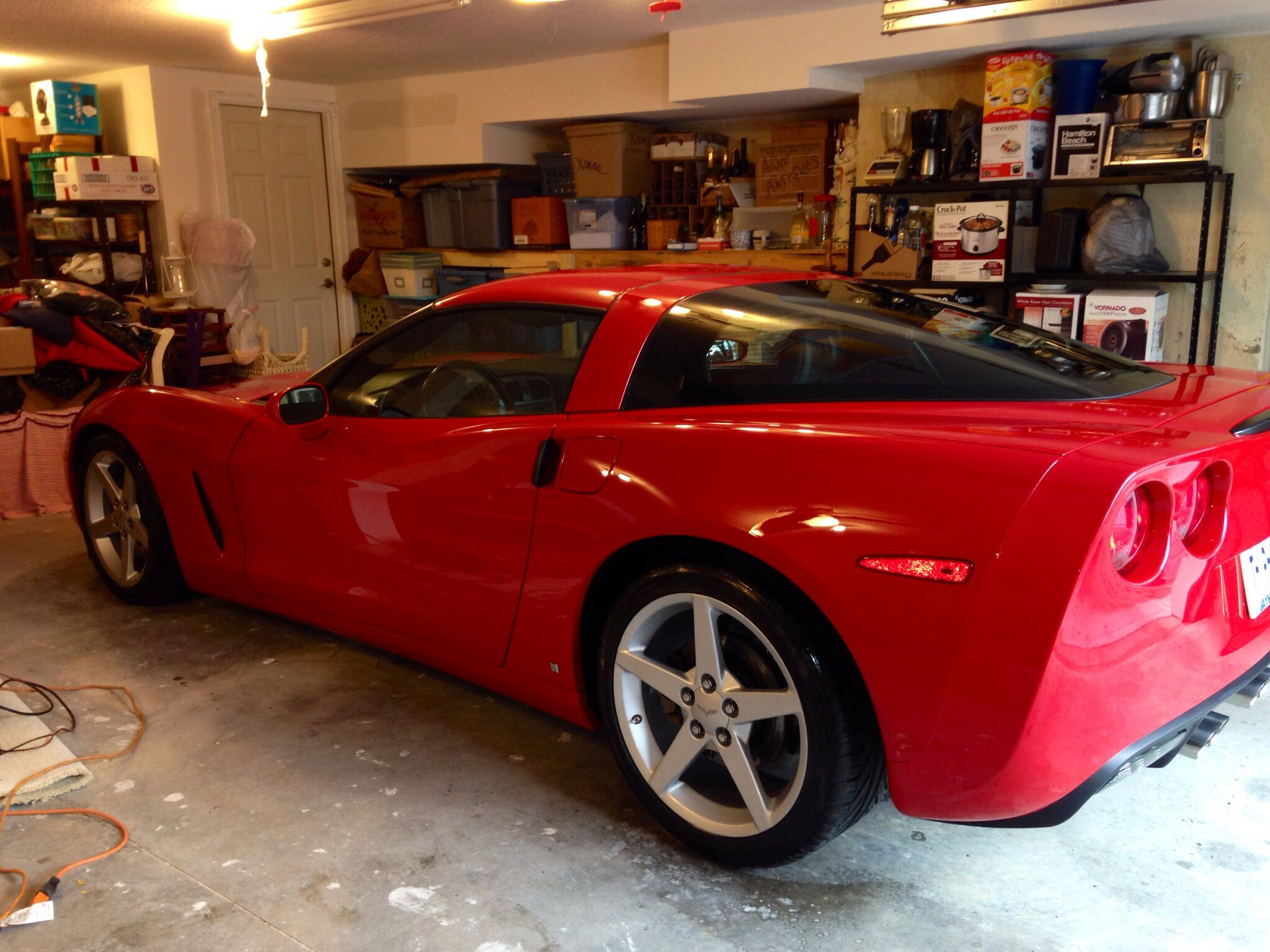 3 steps to get the Corvette winterized by Palladium Motorsports: Compound, polish and wax.