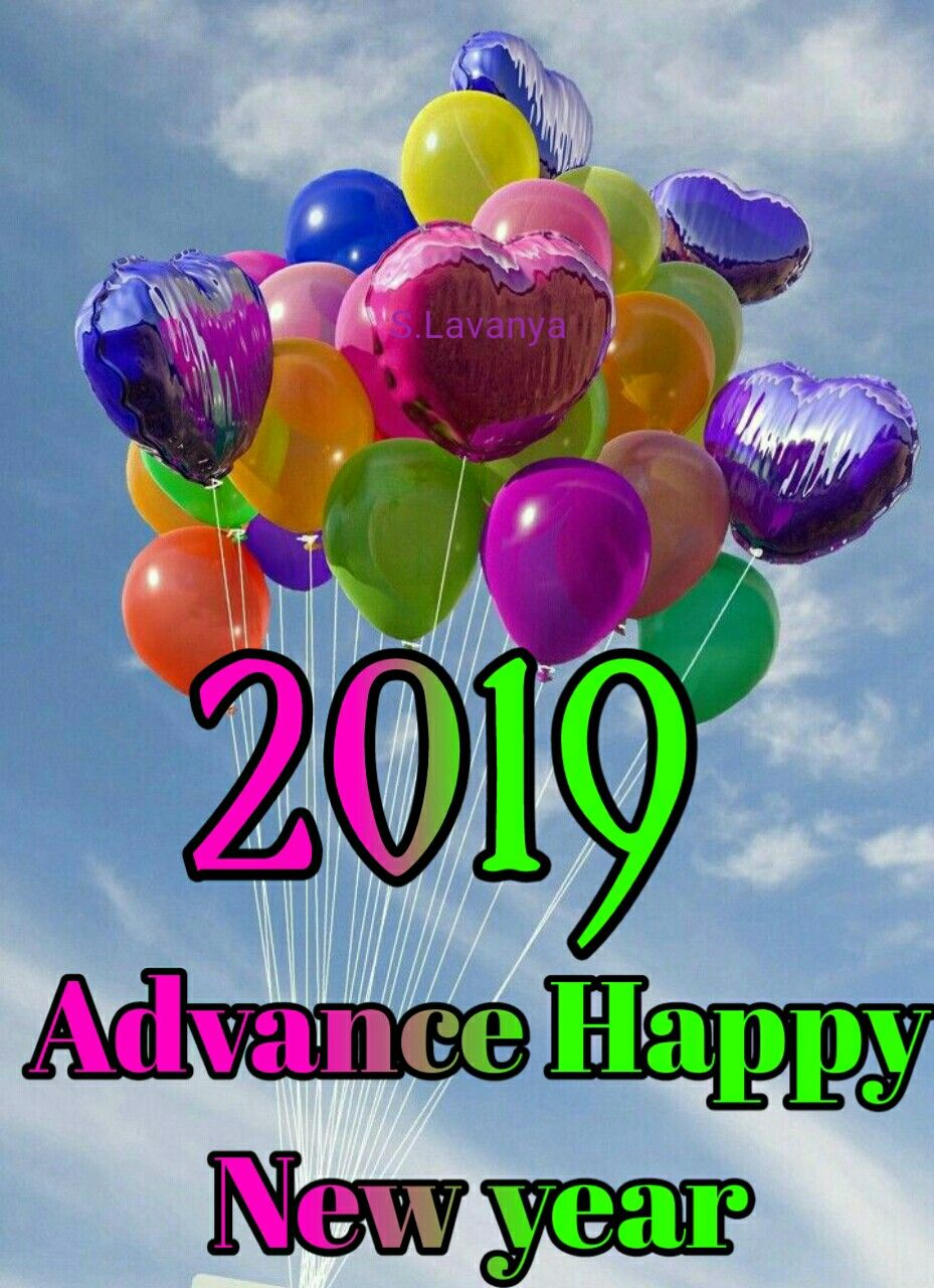 Advance Happy New year S.Lavanya | Happy new year 2019 ...