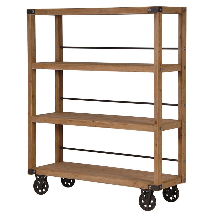 Industrial Wheeled Shelving Unit Wooden Shelf Unit Wooden Shelving Units Industrial Shelving