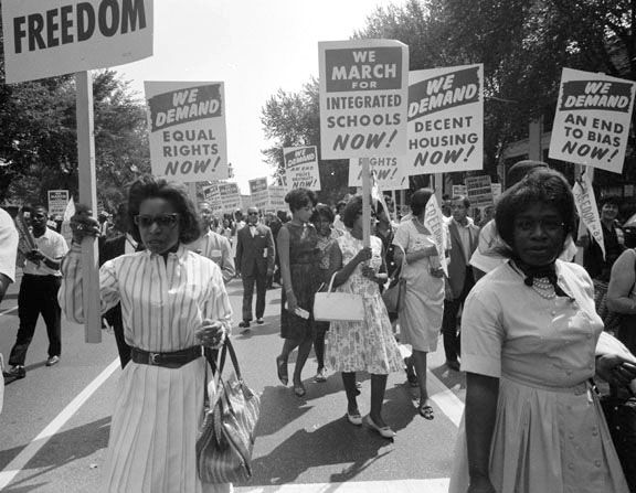 New Found Freedoms Civil Rights March Women In History Civil Rights