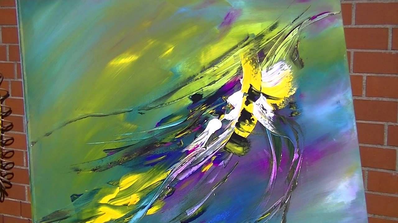 abstract painting demonstration abstrakte acrylmalerei